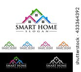 real estate vector logo design  ... | Shutterstock .eps vector #433364392