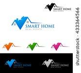 real estate vector logo... | Shutterstock .eps vector #433364566