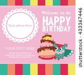 happy birthday card design.... | Shutterstock .eps vector #433367446