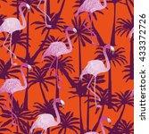flamingo   vector illustration | Shutterstock .eps vector #433372726
