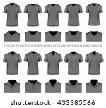 collection of vector t shirt... | Shutterstock .eps vector #433385566