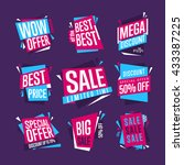 special offer sale tag discount ... | Shutterstock .eps vector #433387225