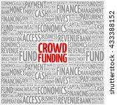 crowd funding word cloud ...   Shutterstock .eps vector #433388152