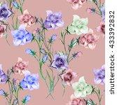 bouquet bell flower colorful ... | Shutterstock . vector #433392832