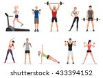 sport gym people set with... | Shutterstock .eps vector #433394152