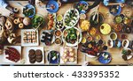 food catering cuisine culinary... | Shutterstock . vector #433395352