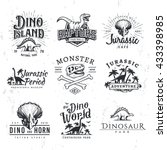 big dinosaur vector logo set....   Shutterstock .eps vector #433398985