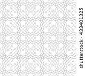 geometric light silver ornament ... | Shutterstock . vector #433401325