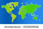 similar world map blank for... | Shutterstock . vector #433404046