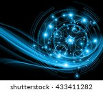 best internet concept of global ... | Shutterstock . vector #433411282