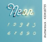 realistic neon character... | Shutterstock .eps vector #433418755