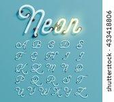 realistic neon character... | Shutterstock .eps vector #433418806