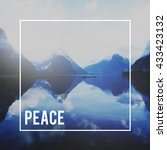 Small photo of Peace Free freedom Calm Solitude Tranquility Concept
