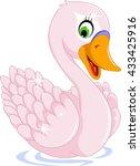 cute goose cartoon posing   Shutterstock .eps vector #433425916