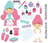 illustration of little girls... | Shutterstock .eps vector #433431508