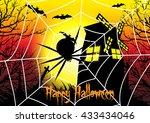 happy halloween card template...   Shutterstock .eps vector #433434046