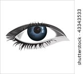 woman eye  isolated over... | Shutterstock .eps vector #43343533