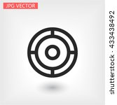 crosshair .line vector icon | Shutterstock .eps vector #433438492