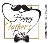 happy father's day. typographic ... | Shutterstock .eps vector #433442008