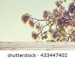 empty wooden vintage table... | Shutterstock . vector #433447402