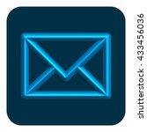 3d line neon message web icon...