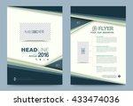 blue annual report brochure... | Shutterstock .eps vector #433474036