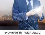 double exposure of professional ... | Shutterstock . vector #433480612