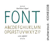 hand drawn font. vector...   Shutterstock .eps vector #433481038