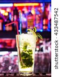 cocktails at the bar. shine.... | Shutterstock . vector #433487542