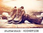 summer trip and closeup of... | Shutterstock . vector #433489108
