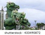 zmey gorynych  a green three... | Shutterstock . vector #433490872