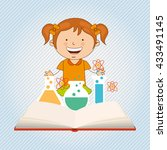 small students  design  | Shutterstock .eps vector #433491145