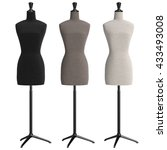 female mannequins with stand... | Shutterstock . vector #433493008