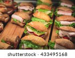 beautifully decorated catering... | Shutterstock . vector #433495168
