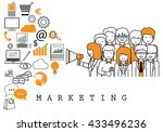 marketing team on white... | Shutterstock .eps vector #433496236