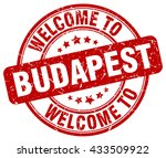 welcome to budapest. stamp | Shutterstock .eps vector #433509922