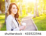 young stylish business woman... | Shutterstock . vector #433522546