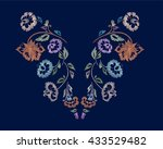 floral pattern   neck line... | Shutterstock .eps vector #433529482