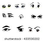 manga eye set. vector | Shutterstock .eps vector #433530202
