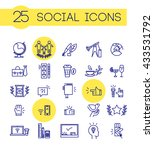 simple blue color social icons... | Shutterstock . vector #433531792