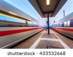 high speed passenger trains on... | Shutterstock . vector #433532668