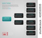 modern web design template with ... | Shutterstock .eps vector #433533535