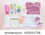 female baby clothes and kit.... | Shutterstock . vector #433541758