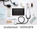 e medicine concept.black tablet ... | Shutterstock . vector #433541878