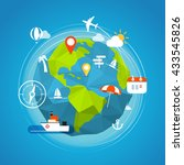 summer vacation travel concept. ... | Shutterstock .eps vector #433545826