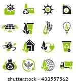 alternative energy simply icons ... | Shutterstock .eps vector #433557562