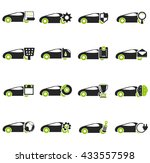 car service simply icons for... | Shutterstock .eps vector #433557598