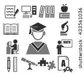 learning icon set | Shutterstock .eps vector #433561036