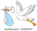 stork and newborn | Shutterstock .eps vector #43356547