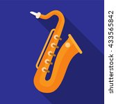 saxophone icon | Shutterstock .eps vector #433565842